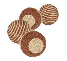 Povrázkové loptičky - hnedo-béžové 4,5 cm