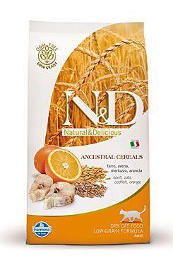 N & D Low Grain CAT Adult Codfish & Orange