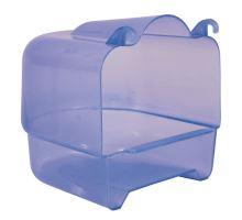 Plastová kúpeľňa hranatá transparentné 15x16x17 cm