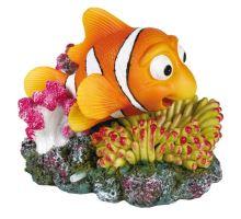 Koral s farebnou rybou 12x10 cm