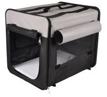 Flamingo Prepravka pre psov Smart Top Plus čierno-šedá 79x56x61cm