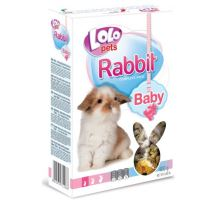 Lolo BABY kompl. krmivo pre králiky do 3 mes. 400g krabička