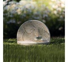 Náhrobný kameň s mačacie siluetou 16 x 12 x 7 cm