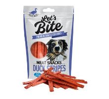 Brit Let 's Bite Meat Snacks Duck Stripes 80g