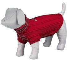 Pletený sveter s rolákom PIAVE červený
