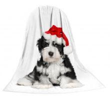 Deka TEXSTAR mikrovlákno 280g 150 x 200 cm - šteňa vianočný