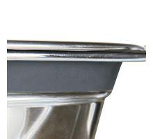Nerez stojan + 2 misky so silikónovým krúžkom