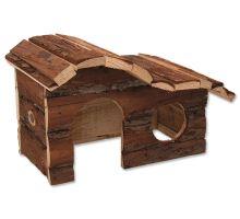 Domček SMALL ANIMAL Kaskada drevený s kôrou 26,5 x 16 x 13,5 cm 1ks
