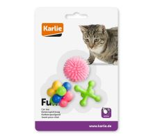 Karlie Hračka pre mačky gumová rôzne tvary rôzne farby 3ks 4x4cm