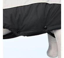 Zimné oblečok MARNE čierny, s otvorom na vodítko TRIXIE