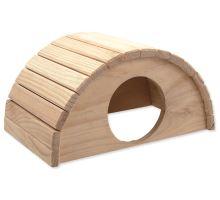 Domček SMALL ANIMAL Polkruh drevený 31 x 20 x 15,5 cm 1ks