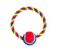 Bavlnený kruh HIP HOP s tenisákom 6 cm, 18 cm / 140 g červená, modrá, biela