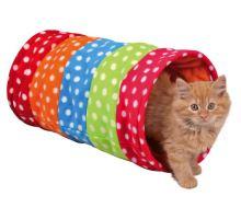 Farebný tunel pre mačky, flízový 25x50 cm