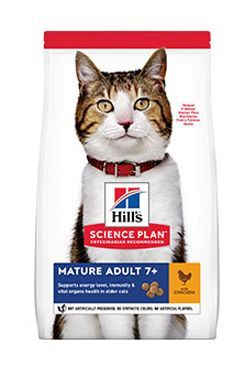Hill 'Feline Dry Mature Adult 7+ Chicken