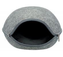 Plstená jaskyne LUNA so zipsom 40 x 24 x 46 cm svetlo šedá