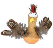 Bobo kura s perím a zvukom 10 cm