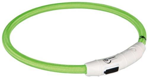 Svietiace krúžok USB na krk (zelená)