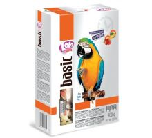 Lolo BASIC zeleninovo / ovocné krmivo pre veľké papagáje 900g