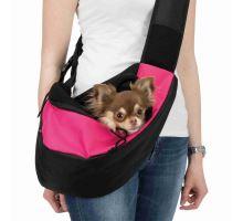 Prenosná taška-Nosička na hrudník 50x25x18 cm ružovo / čierna