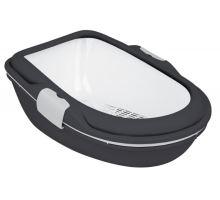 WC BERTO XL - dvojitá nádoba so sitom 69x47x26 cm antrac / bie