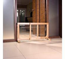Posuvná bariéra pre šteňatá a malé psy 63-108x50x31 cm