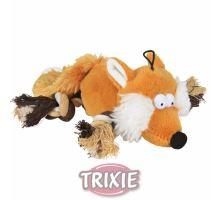 Plyšová líška s bavlnenými uzlíkmi 34cm TRIXIE
