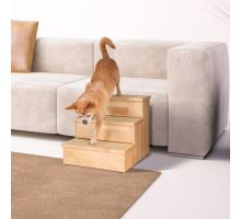 Drevené schody pre malé psy a mačky, max.50kg 40x38x45cm