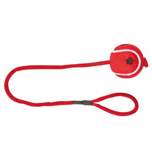 Vrhacie tenisový loptu s labkou na šnúre 6 cm / 50 cm