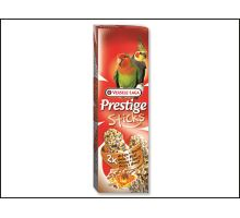 Tyčinky Prestige orechy a med pre stredné papagáje 140g