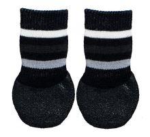 Protišmykové ponožky čierne, 2 ks pre psov bavlna / lycra