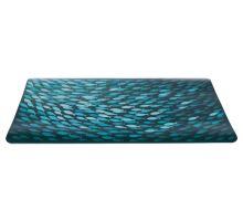 Prestieranie motív kŕdeľ rýb, petrolejová farba 44 x 28 cm
