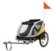 Vozík za bicykel M 45x48x74cm do 30 kg šedo / žlto / čierny