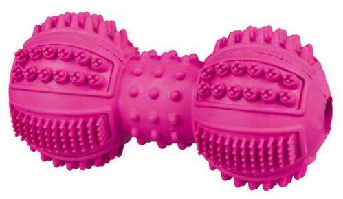 DentaFun činka přírodní tvrdá guma, různobarevná 9 cm