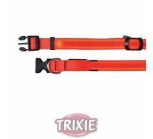 Flash nylonový svietiace obojok oranžový