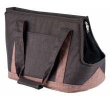 Prepravná taška HAILEY 22x31x45 cm šedo / ružová
