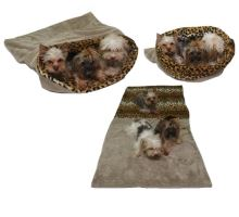 Maryse pelech 3v1 pre psov, béžový / leopard, veľkosť XXL