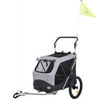 Vozík za bicykel, s funkciou rýchleho skladania M 63 x 95 x 90/132 cm šedý