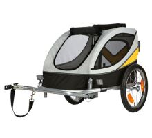 Vozík za bicykel L 58x57x85cm do 40 kg šedo / žlto / čierny