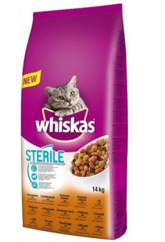 Whiskas Dry kuracie STERILE