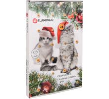 Flamingo Adventný kalendár s kuracími maškrty pre mačky