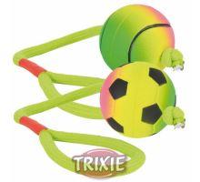 Neónová lopta na šnúre, machová guma, 6cm/30cm Trixie