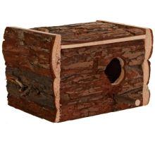 Hniezdiace búdka z prírodného dreva pre andulky 30x20x20 cm