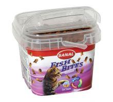 SANAL FISH BITES - snack rybičky pro kočky 75 g