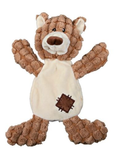 Plyšový medveď so záplatami, so zvukom 30 cm