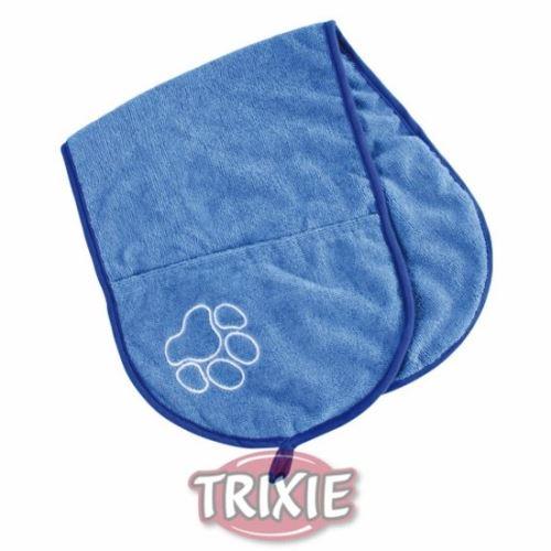 Vysúšacia šál s vreckami - modrý