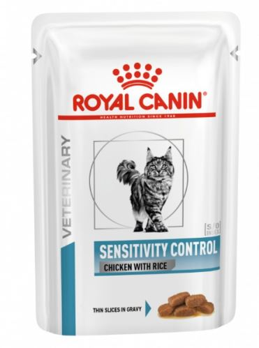 Royal Canin VD Cat Sensitivity Control Chicken&Rice Pouch 12x100g