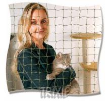 Ochranná sieť pre mačky 8x3 m čierna