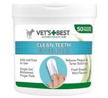 VET'S BEST Čistiaca utierka na zuby pre psov, 50ks