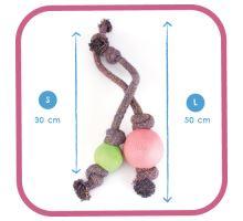 BecoBall lano EKO-ružová