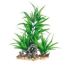 Plastová akvarijné rastlina sa sklakou, na podstavci 28 cm